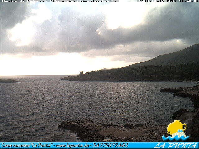 Marina di Camerota webcam - La Punta webcam, Campania, Salerno
